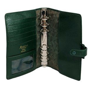 Vintage Filofax of England Leather Hunter Green